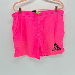 Bleu Ice Pink Neon Mini Short Mens Vintage Large